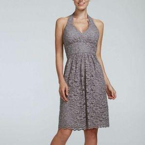 Short lace halter dress